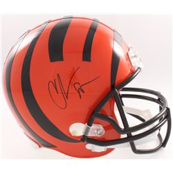 Chad Johnson Signed Bengals Full Size Helmet (Beckett COA  Denver Autographs COA)