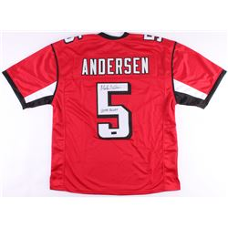 """Morten Anderson Signed Falcons Jersey Inscribed """"2544 Points"""" (Radtke COA)"""