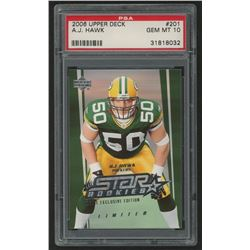2006 Upper Deck #201 A.J. Hawk RC (PSA 10)