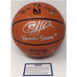 "Chris Paul Signed Spalding Basketball Inscribed ""Houston Strong"" (Steiner COA)"