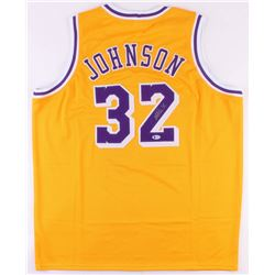 Magic Johnson Signed Lakers Jersey (Beckett COA)