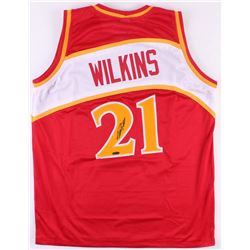 Dominique Wilkins Signed Hawks Jersey (Tristar Hologram)