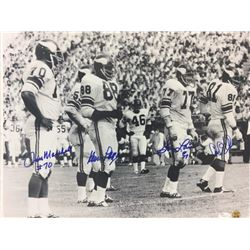 """Vikings """"Purple People Eaters"""" 16x20 Photo Signed by (4) with Alan Page, Carl Eller, Jim Marshall  G"""