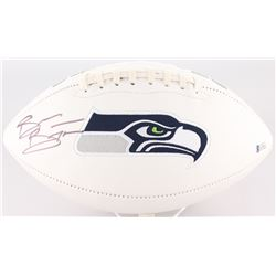 Brian Bosworth Signed Seahawks Logo Football (Beckett COA)