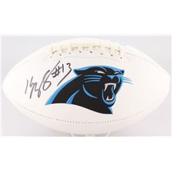 Kelvin Benjamin Signed Panthers Logo Football (JSA COA)