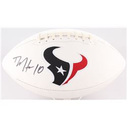 DeAndre Hopkins Signed Texans Logo Football (JSA COA)