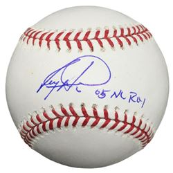 "Ryan Howard Signed OML Baseball Inscribed ""05 NL ROY"" (Beckett COA)"