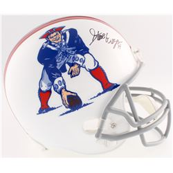 Steve Grogan Signed Patriots Throwback Full-Size Helmet (JSA COA)