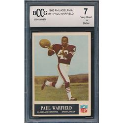 1965 Philadelphia #41 Paul Warfield RC (BCCG 7)