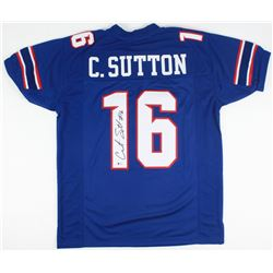 Courtland Sutton Signed SMU Mustangs Jersey (Beckett COA)