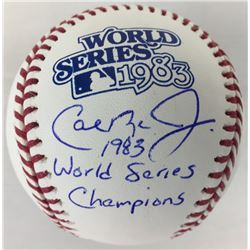 "Cal Ripken Jr. Signed 1983 World Series Baseball Inscribed ""1983 World Series Champions"" (JSA COA)"