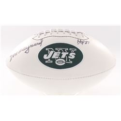 "Don Maynard Signed Jets Logo Football Inscribed ""HOF 87"" (JSA COA)"
