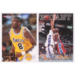 Lot of (2) Kobe Bryant Basketball Cards with 1996-97 Hoops #281 RC  1996 Score Board Autographed BK