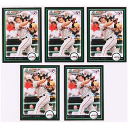 Lot of (5) 2010 Bowman Chrome Draft #BDP61 Buster Posey RC