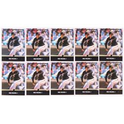 Lot of (10) 1991 Leaf Gold Rookies #BC12 Mike Mussina