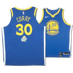 Stephen Curry Signed Warriors Limited Edition Nike Jersey with NBA Champions Patch (Steiner COA)