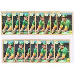 Lot of (15) 1987 Topps #620 Jose Canseco