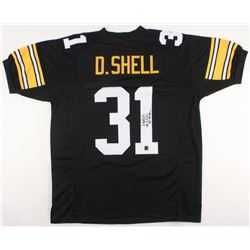 """Donnie Shell Signed Steelers Jersey Inscribed """"SB IX,X,XIII,XIV Champ"""" (Jersey Source COA)"""