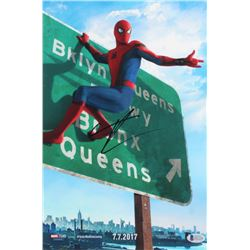 "Tom Holland Signed ""Spider-Man: Homecoming"" 11x14 Photo (Beckett COA)"