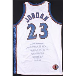 Michael Jordan Signed LE Wizards Career Highlight Stats Jersey (UDA COA)
