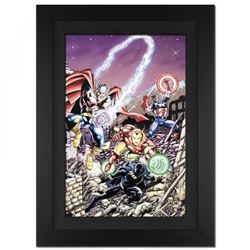 "Stan Lee Signed ""Avengers #21"" Limited Edition 29x40 Custom Framed Giclee on Canvas by George Perez"