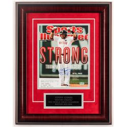 Jonny Gomes Signed Red Sox 15x19 Sports Illustrated Magazine Cover Custom Framed Display (Sure Shot