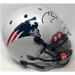 Tom Brady Signed Patriots LE Custom Hydro Dipped White Full-Size Authentic On-Field Helmet (Tristar