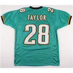 """Fred Taylor Signed Jaguars Jersey Inscribed """"11,695 Rush Yds"""" (Beckett COA)"""