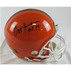"Ozzie Newsome Signed Browns Authentic On-Field Full-Size Helmet Inscribed ""HOF 99"" (JSA Hologram)"