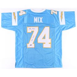 "Ron Mix Signed Chargers Jersey Inscribed ""HOF 1979"" (Radtke COA)"