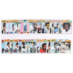 Lot of (32) 1977 Topps Mexican Football Cards with #140 Jack Ham, #281 Rocky Bleier, #342 Randy Whit