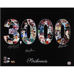 """Gaylord Perry, Fergie Jenkins  Tom Seaver Signed """"3,000 Strikouts"""" 16x20 Photo (MAB Hologram)"""