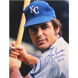 """Lou Piniella Signed Royals 11x14 Photo Inscribed """"1969 AL ROY"""" (Mead Chasky Hologram)"""