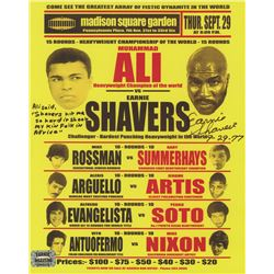 "Earnie Shavers Signed 8x10 Replica 1977 Fight Poster vs. Muhammad Ali Inscribed ""9-29-77"" (Shavers H"