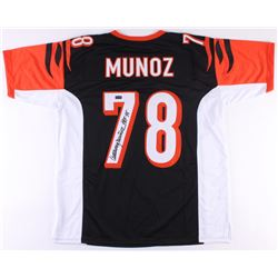 "Anthony Munoz Signed Bengals Jersey Inscribed ""HOF 98"" (Radtke COA)"