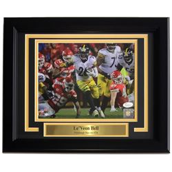 Le'Veon Bell Signed Steelers 11x14 Custom Framed Photo Display (JSA COA)