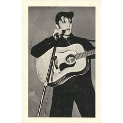 Elvis Presley Signed 3.5x5.5 Postcard With Inscription (Beckett LOA)