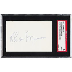 Thurman Munson Signed Cut (SGC Encapsulated)