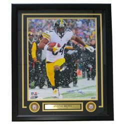 Antonio Brown Signed Steelers 22x27 Custom Framed Photo Display (JSA COA)
