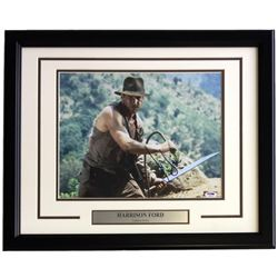 "Harrison Ford Signed ""Indiana Jones"" 16x20 Custom Framed Photo Display (PSA LOA)"