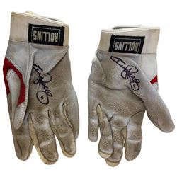 Jimmy Rollins Signed Game-Used Nike Batting Gloves (Beckett COA  Celebz Direct LOA)