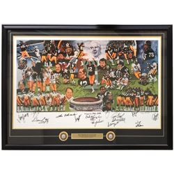 """Steelers """"Dynasty"""" LE 32x45 Custom Framed Lithograph Dispay Signed by (53) with Terry Bradshaw, Lynn"""