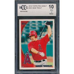 2010 Topps Pro Debut #181 Mike Trout (BCCG 10)