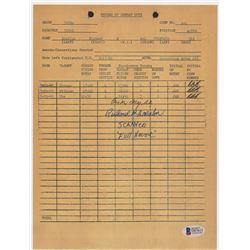 """Richard B. Anselme Signed """"Combat Duty"""" 8x10 Document Copy Inscribed """"Full House""""  """"Scanner"""" (Becket"""