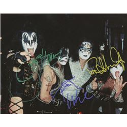 """KISS"" 8x10 Photo Signed by (3) with Paul Stanley, Gene Simmons,   Peter Criss (JSA LOA)"