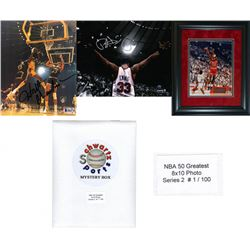 NBA 50 Greatest Mystery 8x10 Photo - Series 2 – Limited to 100 – *Grand Prizes Michael Jordan  W