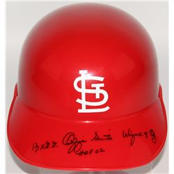 "Ozzie Smith Signed Cardinals Full-Size Batting Helmet Inscribed ""13X G.G."", ""HOF 02""  ""Wizard of Oz"""