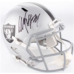Marshawn Lynch Signed Raiders Full-Size Speed Helmet (Beckett COA)