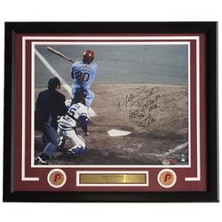 """Mike Schmidt Signed LE Phillies 500 Home Run 22x27 Custom Framed Photo Display Inscribed """"1980 WS MV"""