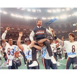 1985-86 Bears Super Bowl XX 16x20 Photo Team-Signed by (5) with Mike Ditka, Willie Gault, William Pe